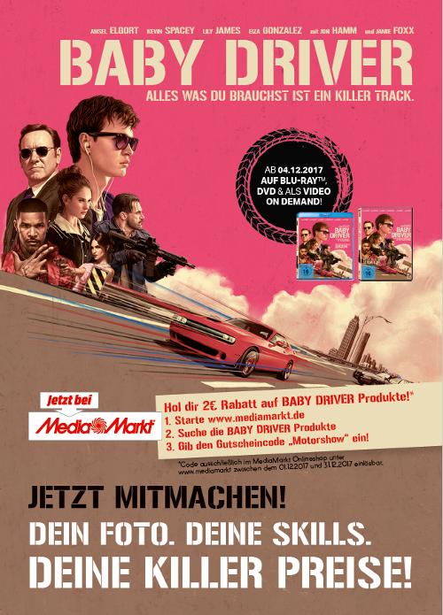 """Unser Boxenstopp zum Heimkinostart von """"BABY DRIVER"""" auf der Essen Motor Show 2017  Bild 2"""