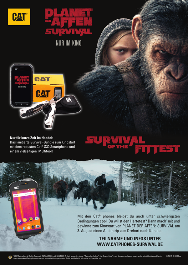 SURVIVAL OF THE FITTEST: Mit CAT Phones auf dem Planet der Affen