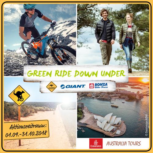 Wir radeln im Tandem mit GIANT und ROADSIGN australia auf dem GREEN RIDE DOWN UNDER Bild 2