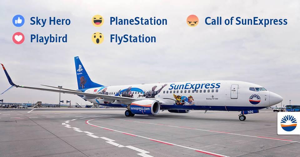 """Unsere Jahreskooperation von SunExpress und PlayStation erreicht mit der """"PlaneStation"""" ihre Flughöhe"""