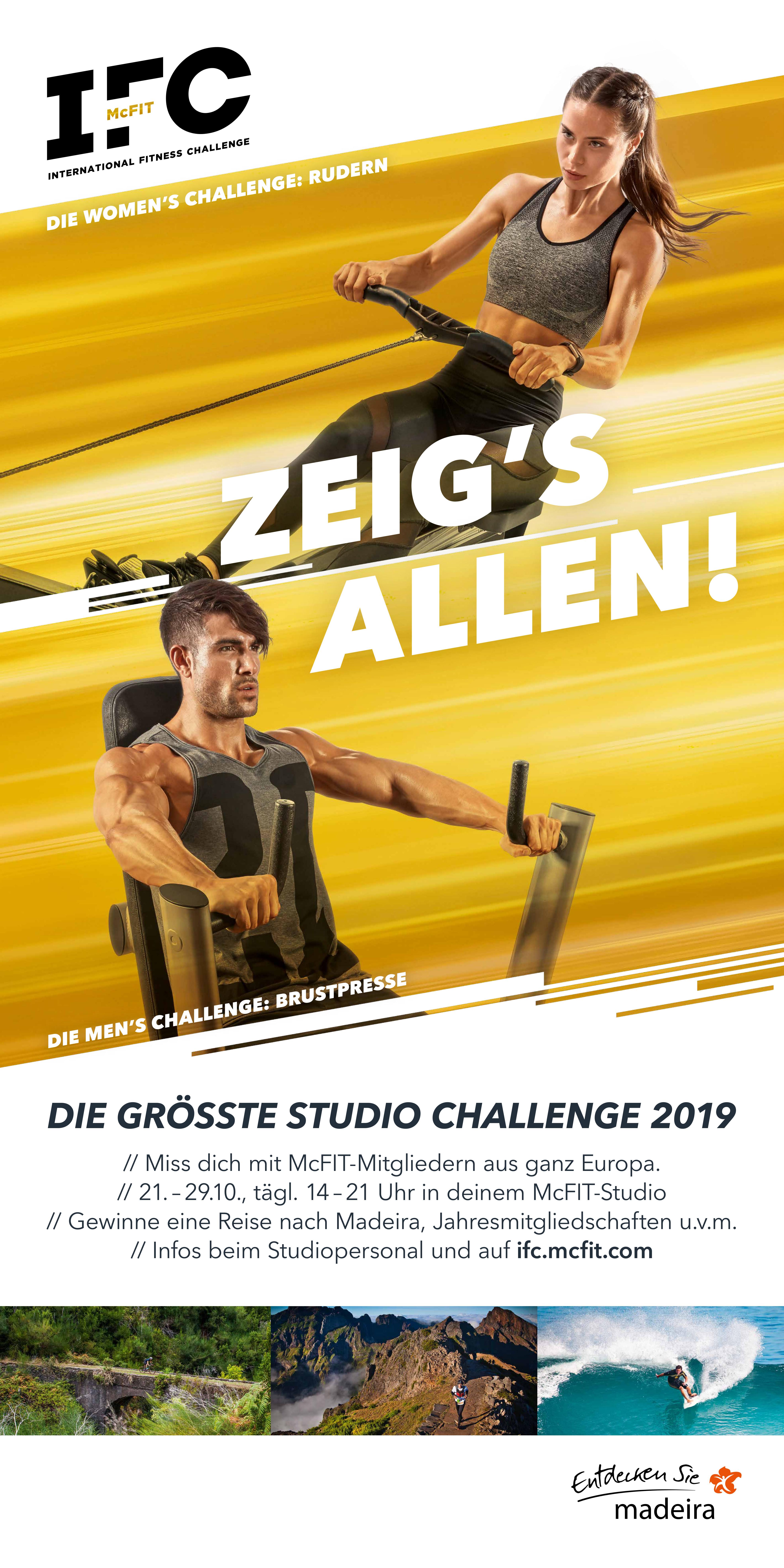 McFIT startet die IFC 2019 – Europas größte Studio Challenge