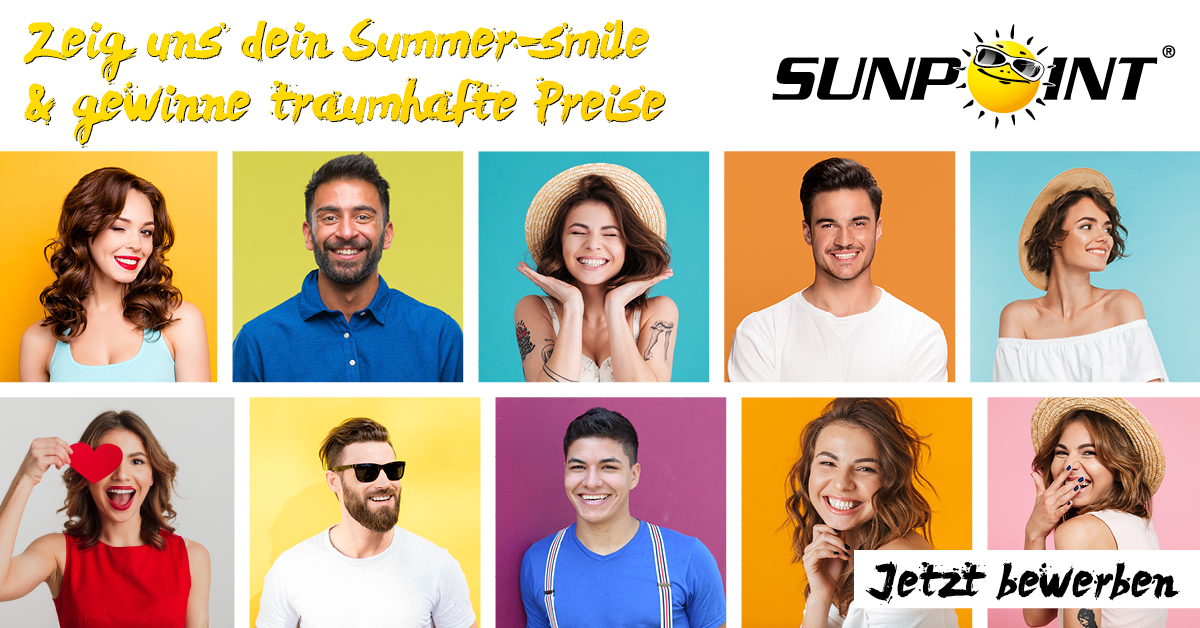 """Mit SUNPOINT suchen wir den schönsten """"SUMMER-SMILE 2019"""""""